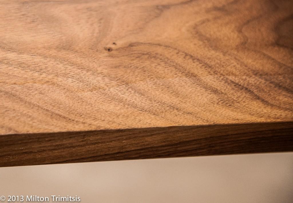Finish flaw in walnut tabletop