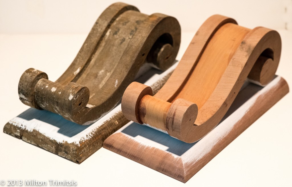 Original and reproduction decorative wood brackets