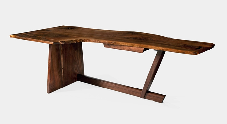 Walnut Minguren desk made by George Nakashima
