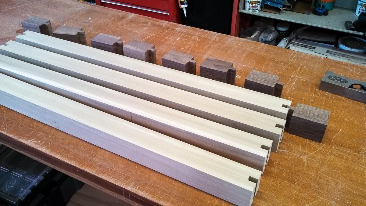 Nice Walnut Table Leg Construction 1. «