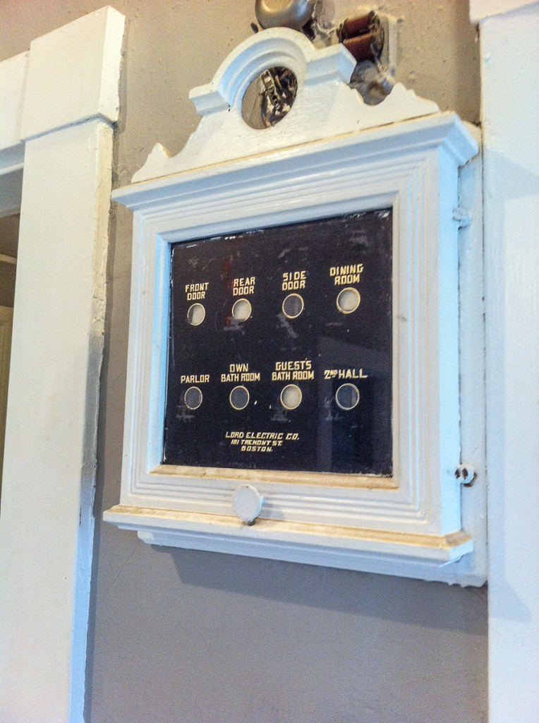 Call box in old house