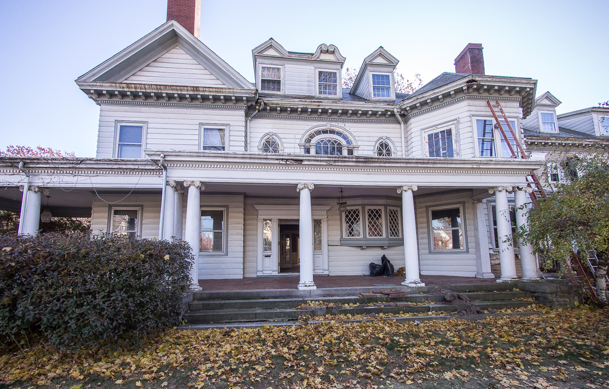 Nineteenth-century mansion in Jamaica Plain Ma in need of repair