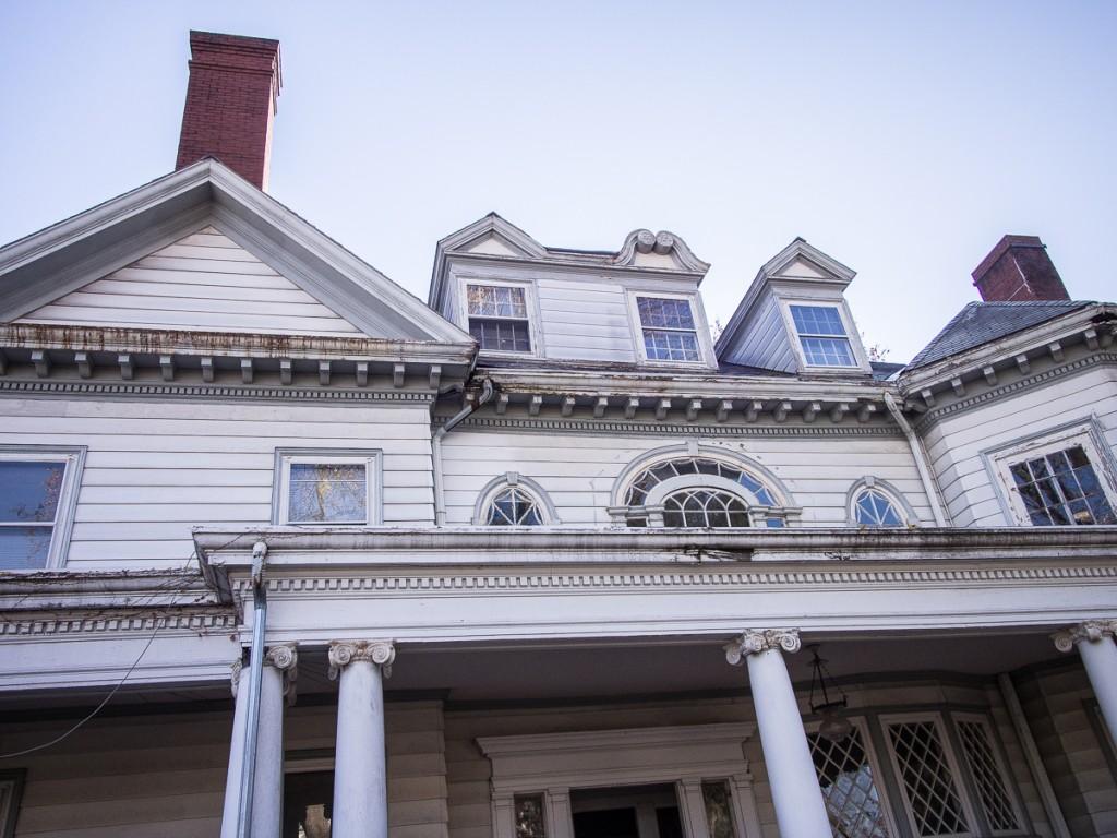 Unusual arrangement of dormers on Victorian house
