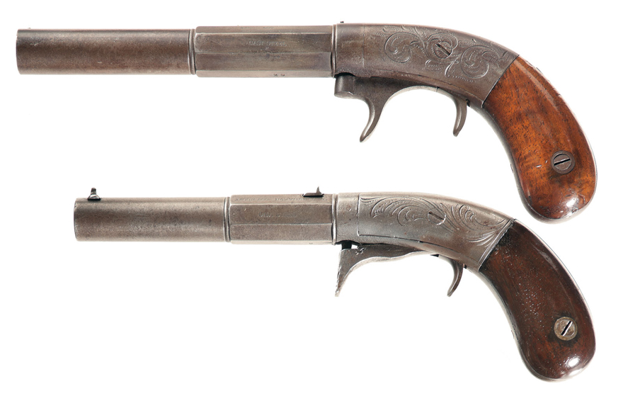 Example of Bacon underhammer pistols